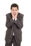 Portrait of hispanic man with shocked facial. Expression. This image has attached release Stock Image