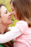 Portrait Hispanic mother and daughter Royalty Free Stock Images
