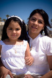 Portrait Of Hispanic Mother And Daughter Royalty Free Stock Photo