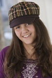Portrait of a hispanic teenage girl at home Royalty Free Stock Photo
