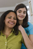 Portrait of a hispanic teenage girl and mother Royalty Free Stock Images