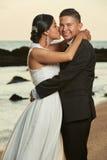 Portrait of hispanic wedding couple Stock Photos