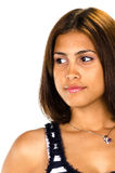 Portrait of hispanic woman looking serious Royalty Free Stock Image