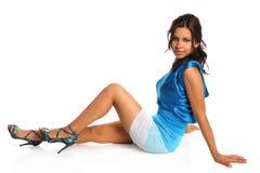 Portrait of Hispanic Woman Sitting Royalty Free Stock Images