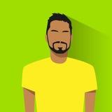 Portrait hispanique masculin d'avatar d'icône de profil occasionnel illustration libre de droits