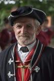 Portrait of historical guardsman Stock Images