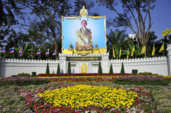 Portrait of HM King Bhumibol Adulyadej Royalty Free Stock Image
