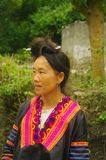 Portrait of a Hmong woman in the area of Lai Chau Royalty Free Stock Photos