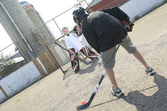 Portrait of hockey ball players play Stock Image