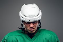 Portrait of hockey player Royalty Free Stock Images