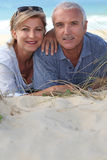 Portrait of holidaymakers. At the beach Stock Images