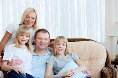 Portrait at home Royalty Free Stock Photos