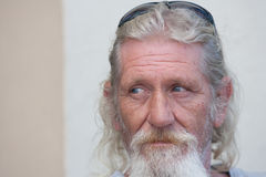 Portrait of homeless man Royalty Free Stock Photos