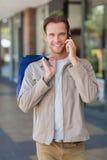 Portrait homme d'appelle de sourire Photo libre de droits