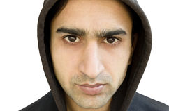 Portrait in the hood Stock Photography