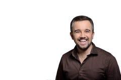 Portrait horizontal sincèrement de sourire d'homme - photo courante Photographie stock libre de droits
