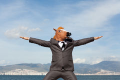 Portrait of Horse Businessman Stock Photos