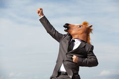 Portrait of Horse Businessman Royalty Free Stock Image