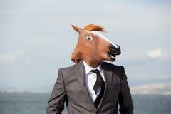 Portrait of Horse Businessman Royalty Free Stock Photos