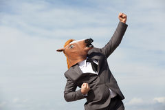Portrait of Horse Businessman Royalty Free Stock Photography