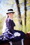 Portrait of the horsewoman. Royalty Free Stock Images