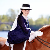 Portrait of the horsewoman. Royalty Free Stock Image