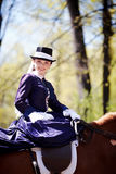 Portrait of the horsewoman. Royalty Free Stock Photo