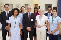 Portrait Of Hospital Medical Team Stock Images