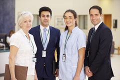 Portrait Of Hospital Medical Team Stock Photo