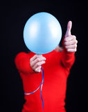 Portrait of a humans body with balloon. Portrait of a humans body and balloon Royalty Free Stock Photography