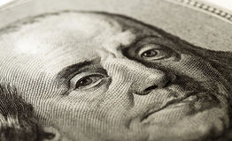 Portrait of a hundred dollars Stock Image