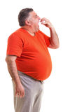 Portrait of a hungry overweight man Royalty Free Stock Photo