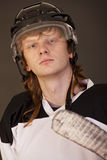 Portrait of ice hockey player Stock Photo