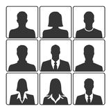 Portrait icon set. Avatar profile picture icon set on white background Stock Photos