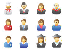 Portrait icons set Royalty Free Stock Photo
