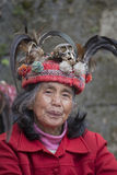 Portrait ifugao woman in Banaue, Philippines Stock Images