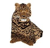 Portrait illustratif de léopard d'Amur Illustration de Vecteur