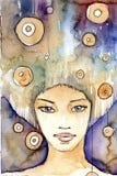Portrait im Indigo Lizenzfreies Stockbild
