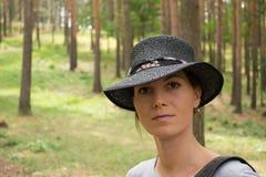 Portrait im Wald Lizenzfreies Stockbild