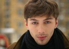 Portrait im Winter Stockfotografie