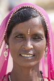 Portrait Inderfrau Pushkar, Indien Stockfotografie