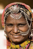Portrait of a India Rajasthani woman Stock Images
