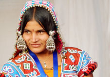 Portrait of a Indian banjara woman. Royalty Free Stock Image
