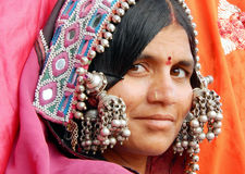 Portrait of a Indian banjara woman. Royalty Free Stock Photo