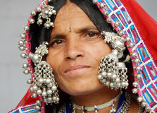 Portrait of a Indian banjara woman. Royalty Free Stock Photography