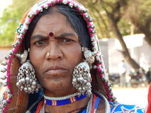 Portrait of a Indian banjara woman. Royalty Free Stock Images