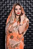 Portrait of Indian beautiful woman stock photography