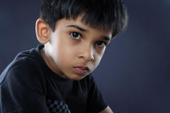 Portrait of Indian Boy. Posing to Camera Stock Photo