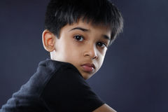 Portrait of Indian Boy Stock Photo