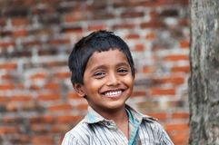 Portrait of Indian boy on the street in fishing village Stock Image